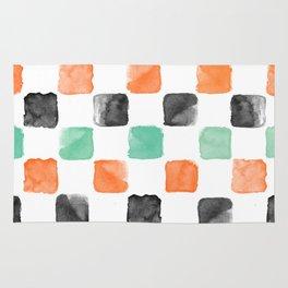 Watercoloured Chess Rug