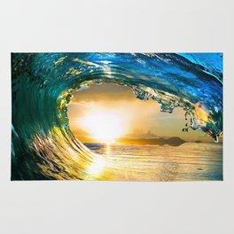 Glowing Wave Rug