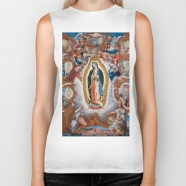 Virgin of Guadalupe, 1779 - Mexican Artwork Biker Tank