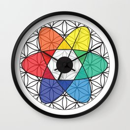 Flower of Science Wall Clock