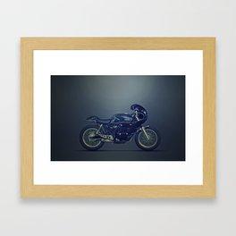 Honda GB Clubman vintage racer dark Framed Art Print