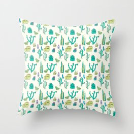 Cacti Critters Throw Pillow