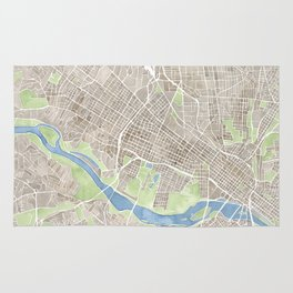 Richmond Virginia City Map Rug