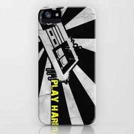 PLAY HARD iPhone Case