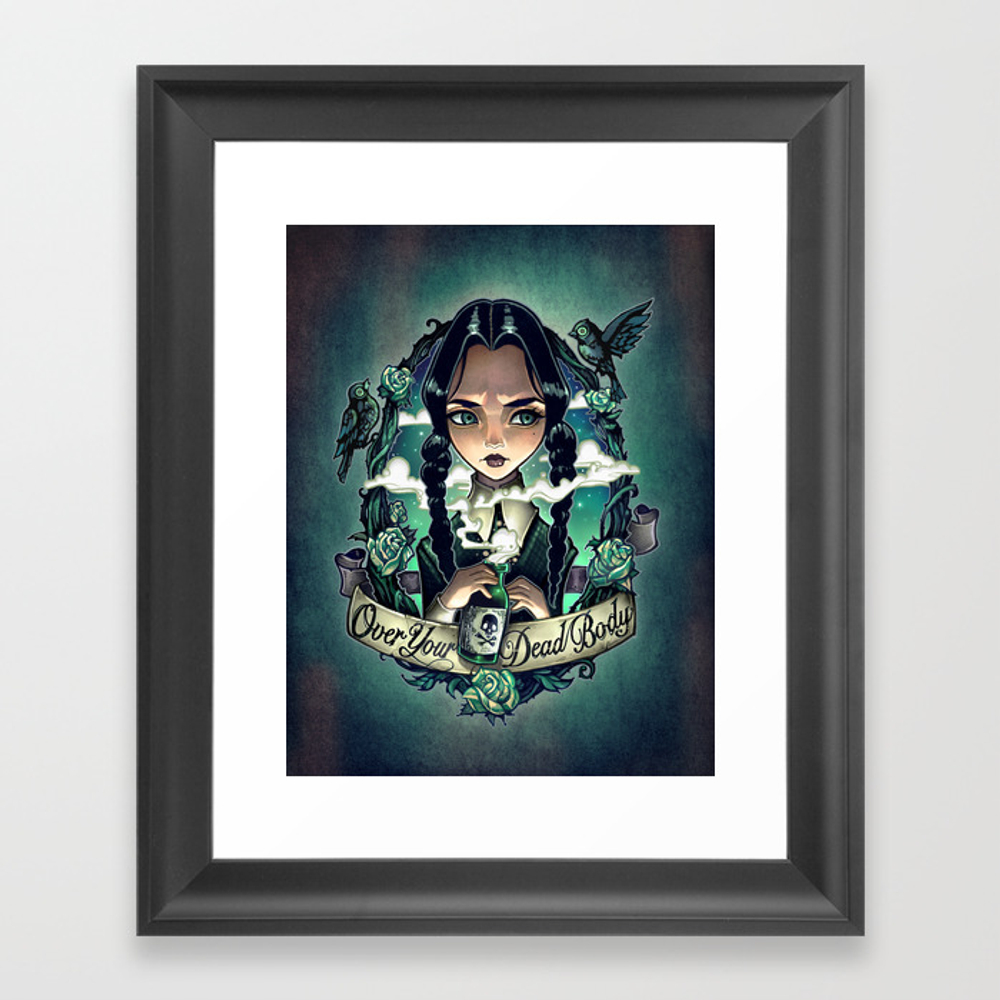Over Your Dead Body Framed Art Print by Timshumate FRM3585196
