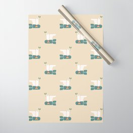 Peace dove and rainbow bomb Wrapping Paper