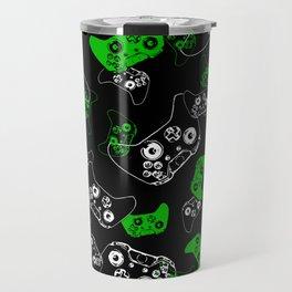 Video Game Black & Green Travel Mug