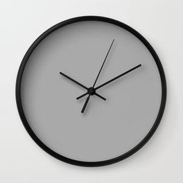 Dark Medium Gray - solid color Wall Clock