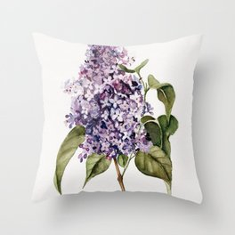 Lilac Branch Throw Pillow