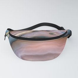 Pink and Blue agate 0425 Fanny Pack