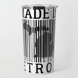 MADE IN DETROIT Bar Code Travel Mug