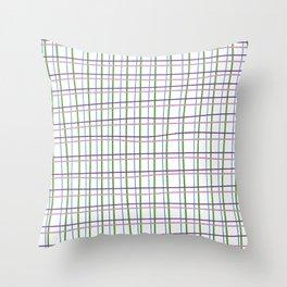 Textura cuadros Throw Pillow