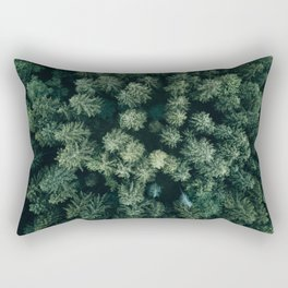 Forest from above - Landscape Photography Rectangular Pillow