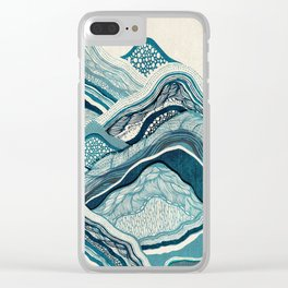 Blue Hike Clear iPhone Case