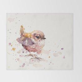 Fluffy Le Wren Throw Blanket
