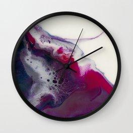In Bloom - Resin art Wall Clock