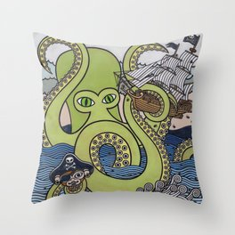 Sea Monster 1  Throw Pillow