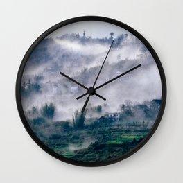 Foggy Mountain of Vietnam Wall Clock