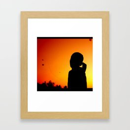 A Kid and His Kite Framed Art Print