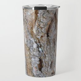 TEXTURES -- Big Cone Pine Bark Travel Mug