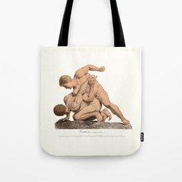 Nude Wrestlers Tote Bag