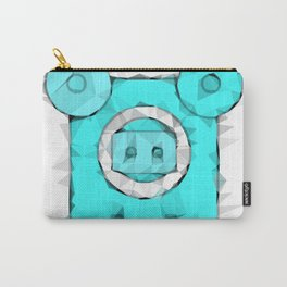 blue pig portrait geometric triangle pattern abstract Carry-All Pouch