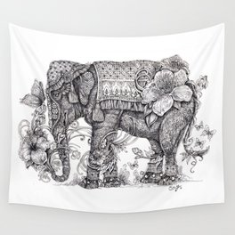 """Anesh the Creative Elephant"" Wall Tapestry"
