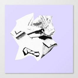 Glitch Scrunch Purple Canvas Print