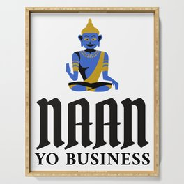 Naan Yo Business Indian Food Pun Serving Tray