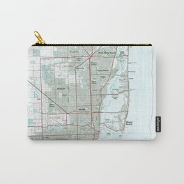 Miami Florida Map (1981) Carry-All Pouch