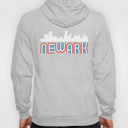Red White Blue Newark New Jersey Skyline Hoody