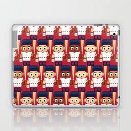 Baseball Red, White and Blue - Super cute sports stars Laptop & iPad Skin