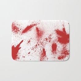 Bloody Blood Spatter Halloween Bath Mat