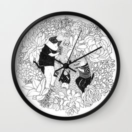Quiet Family Time Wall Clock