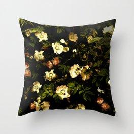 Floral Night I Throw Pillow