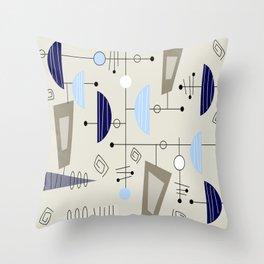 Mid-Century Modern Atomic Era Throw Pillow
