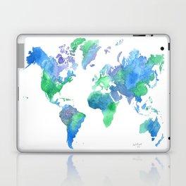 Watercolor Worldmap Laptop & iPad Skin