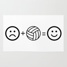 Volleyball Makes Me Happy Rug