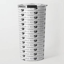 T-Rex Pattern (Black & White) Travel Mug