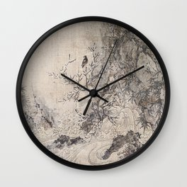 Landscape with Rapids Wall Clock