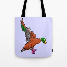 Duck Boots Tote Bag