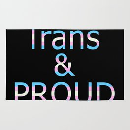Trans and Proud (black bg) Rug