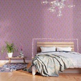 Meadow Flowers on Pastel Purple Wallpaper