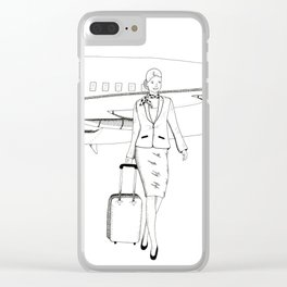 Flight attendant Clear iPhone Case