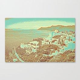 Santorini Greek Island Caldera, Greece 7 Canvas Print