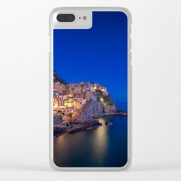 As the night falls over Manarola Clear iPhone Case