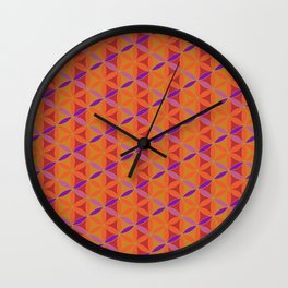 Flower of Life Pattern 14 Wall Clock