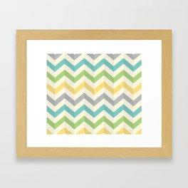 Green Diagonal Framed Art Print