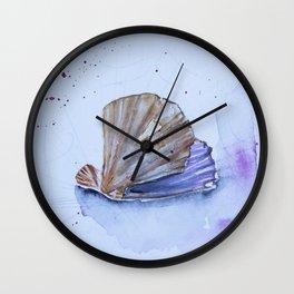 The great scallop - Pecten maximus Wall Clock