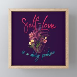 Kelly-Ann Maddox Collection :: Self-Love (Illustrated) Framed Mini Art Print